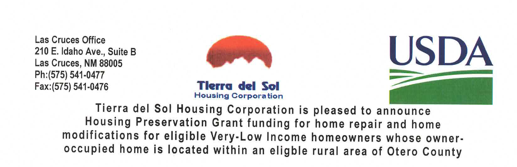 Otero Co Home Rehab Grant